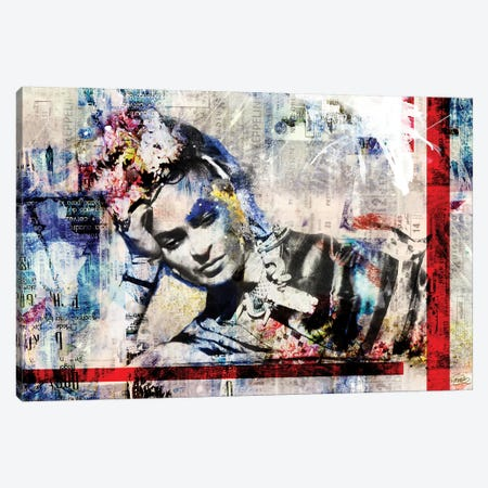 Frida Canvas Print #CWD23} by Caroline Wendelin Canvas Print