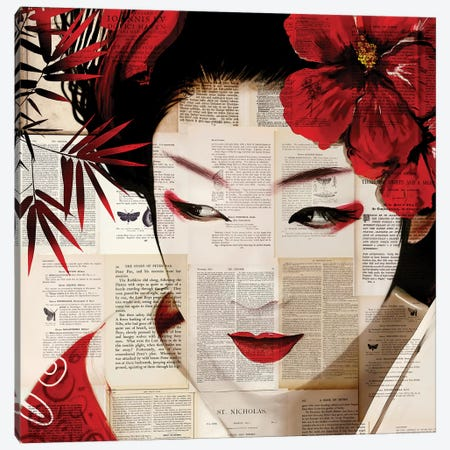 Geisha II 3-Piece Canvas #CWD25} by Caroline Wendelin Canvas Art