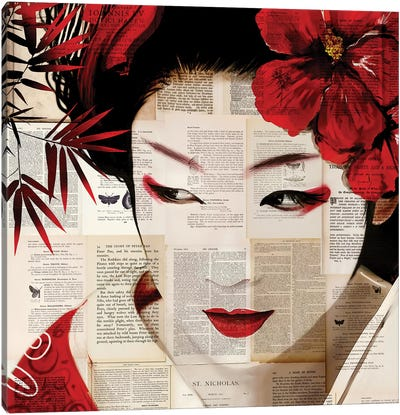 Geisha II Canvas Art Print