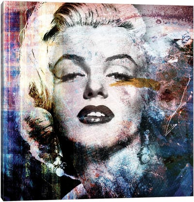 Grunge Marilyn Canvas Art Print