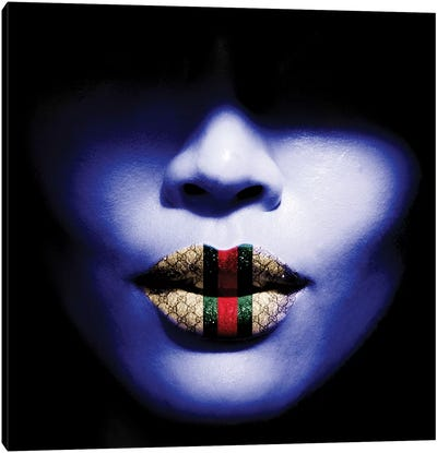 Gucci Lips Canvas Art Print