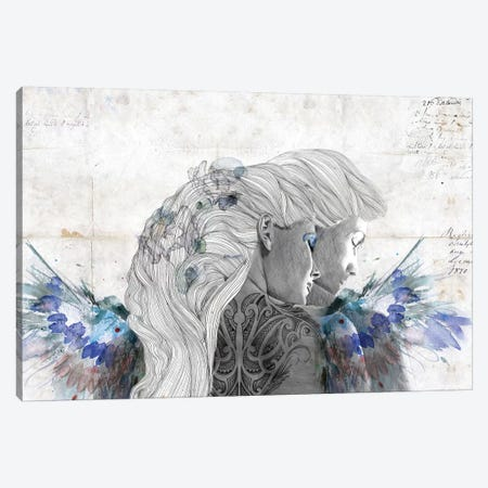Lovers Canvas Print #CWD32} by Caroline Wendelin Canvas Artwork