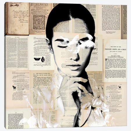 Paper Girl Canvas Print #CWD39} by Caroline Wendelin Canvas Art