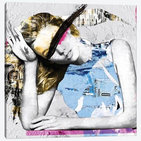 Paper Girl I Canvas Print #CWD40} by Caroline Wendelin Canvas Art Print