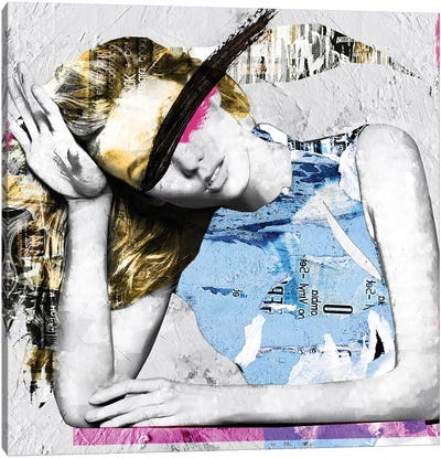 Paper Girl I Canvas Art Print