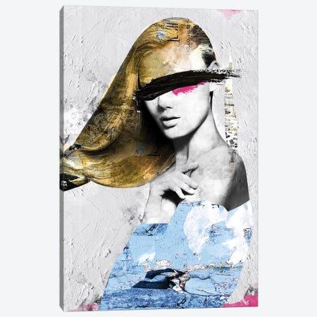 Paper Girl II Canvas Print #CWD41} by Caroline Wendelin Art Print