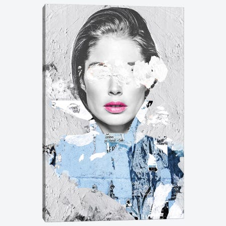 Paper Kiss Canvas Print #CWD43} by Caroline Wendelin Canvas Art Print