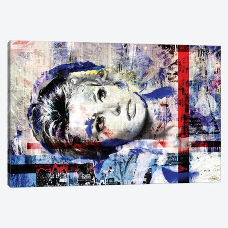Red Lines Canvas Print #CWD47} by Caroline Wendelin Canvas Artwork