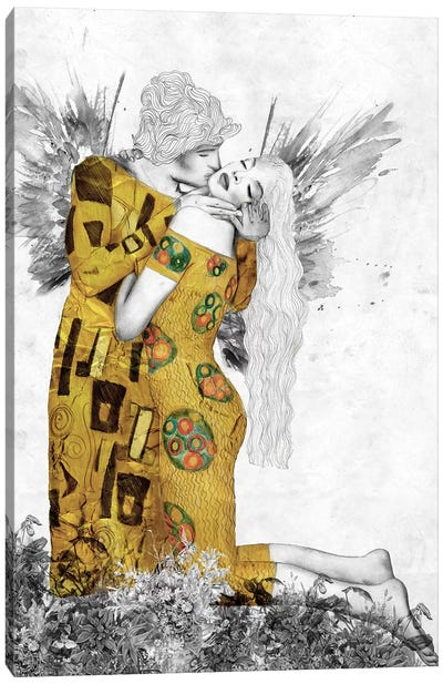 The Kiss-Homage To Klimt Canvas Art Print