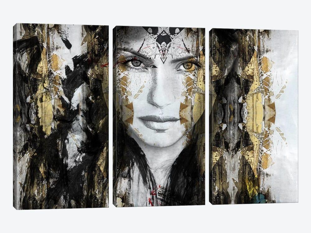 Thunder by Caroline Wendelin 3-piece Canvas Wall Art