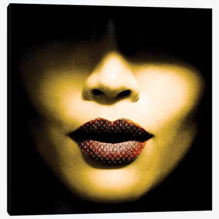 Vuitton Lips Canvas Print #CWD58} by Caroline Wendelin Canvas Art