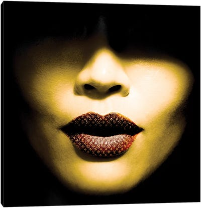 Vuitton Lips Canvas Art Print