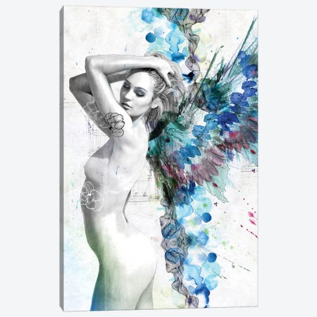 Water Angel Canvas Print #CWD59} by Caroline Wendelin Canvas Wall Art