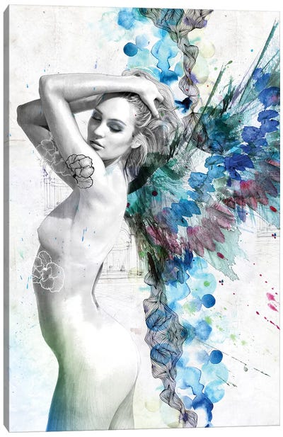 Water Angel Canvas Art Print