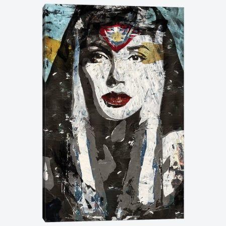 Wonder Woman Canvas Print #CWD61} by Caroline Wendelin Canvas Art Print