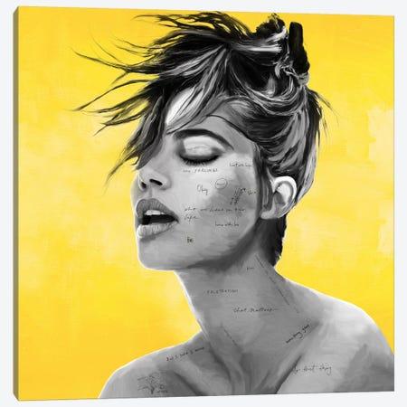Yellow 3-Piece Canvas #CWD62} by Caroline Wendelin Art Print