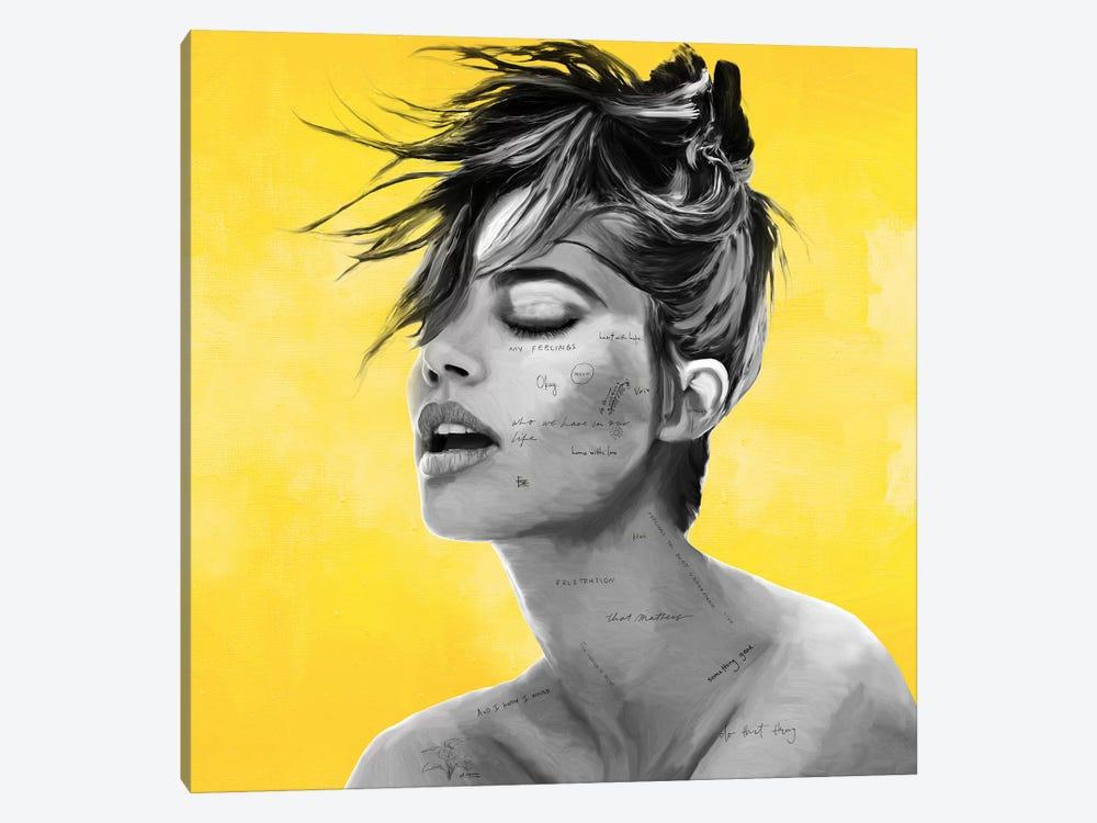 Yellow by Caroline Wendelin 1-piece Canvas Art