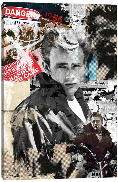 James Dean Danger Zone Canvas Art Print