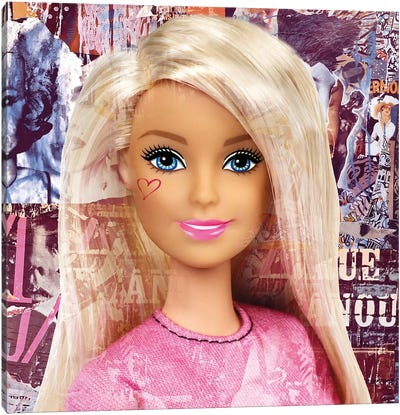Barbie Canvas Art Print