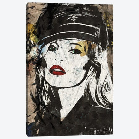 Kate Moss in London Canvas Print #CWD71} by Caroline Wendelin Canvas Artwork
