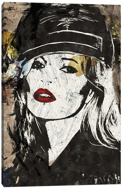 Kate Moss in London Canvas Art Print