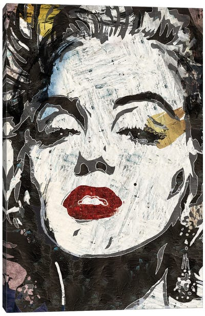 Marilyn Monroe's Kiss Canvas Art Print