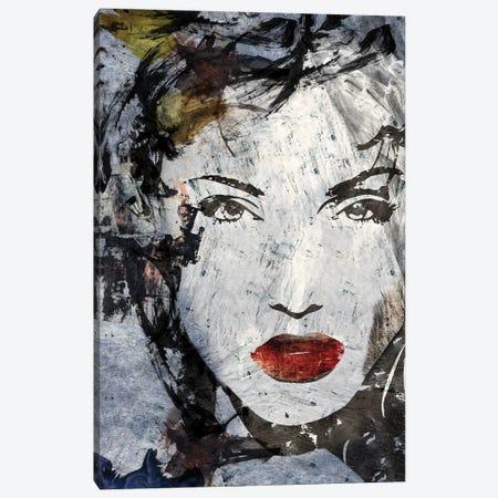 Pop portrait blue Canvas Print #CWD73} by Caroline Wendelin Canvas Wall Art