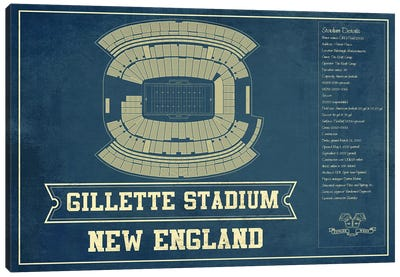 New England Gillette Stadium II Canvas Art Print