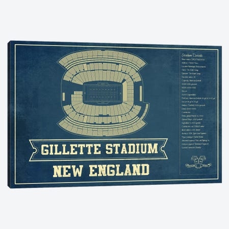 New England Gillette Stadium II Canvas Print #CWE100} by Cutler West Canvas Wall Art