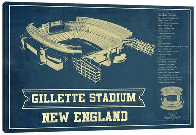 New England Gillette Stadium III Canvas Art Print