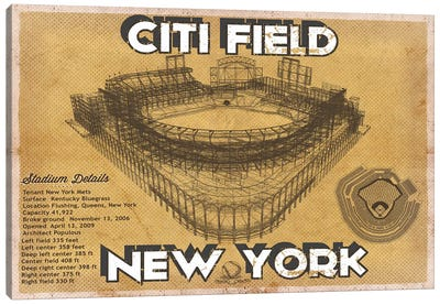 New York Citi Field Canvas Art Print