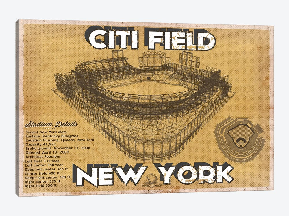 New York Citi Field by Cutler West 1-piece Canvas Artwork