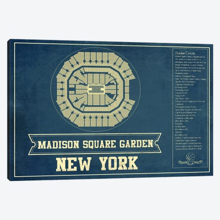 New York Madison Square Garden I Canvas Print #CWE105} by Cutler West Art Print