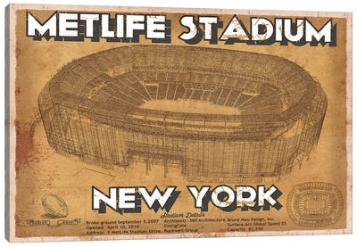 New York Met Life Stadium Canvas Art Print