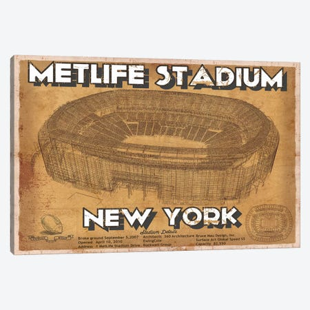 New York Met Life Stadium Canvas Print #CWE108} by Cutler West Canvas Wall Art
