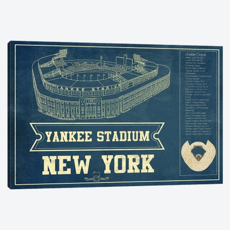 New York Yankees Stadium Canvas Print #CWE110} by Cutler West Art Print