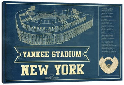 New York Yankees Stadium Canvas Art Print