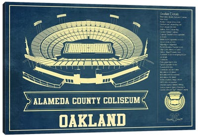 Oakland Alameda County Coliseum I Canvas Art Print