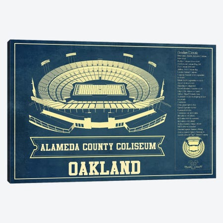 Oakland Alameda County Coliseum I Canvas Print #CWE113} by Cutler West Art Print