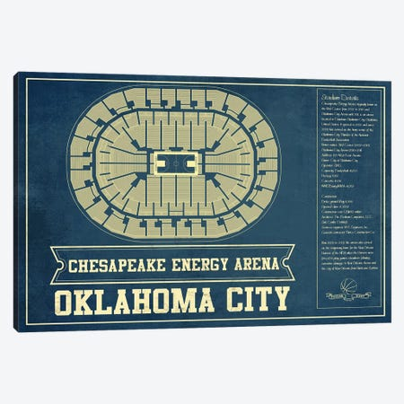 Oklahoma City Chesapeake Energy Arena Canvas Print #CWE115} by Cutler West Canvas Art