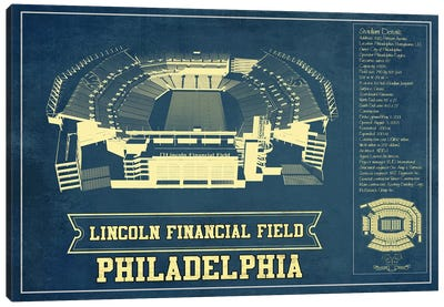 Philadelphia Lincoln Financial Field Canvas Art Print