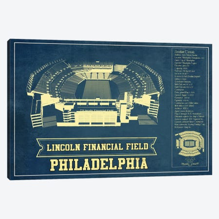 Philadelphia Lincoln Financial Field Canvas Print #CWE118} by Cutler West Art Print