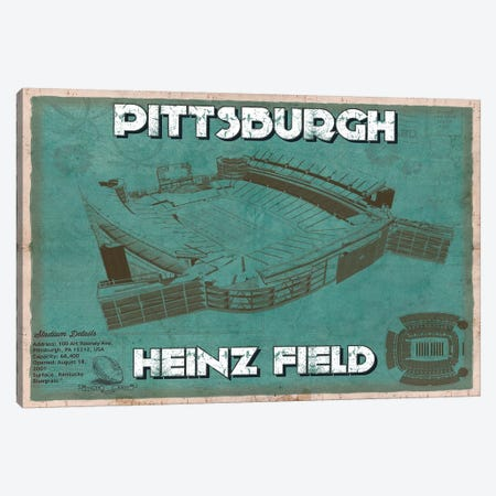 Pittsburgh Heinz Field Canvas Print #CWE122} by Cutler West Canvas Wall Art