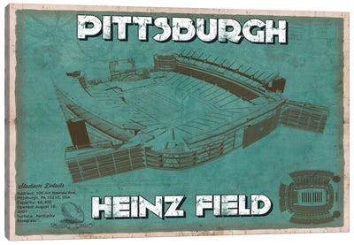Pittsburgh Heinz Field Canvas Art Print
