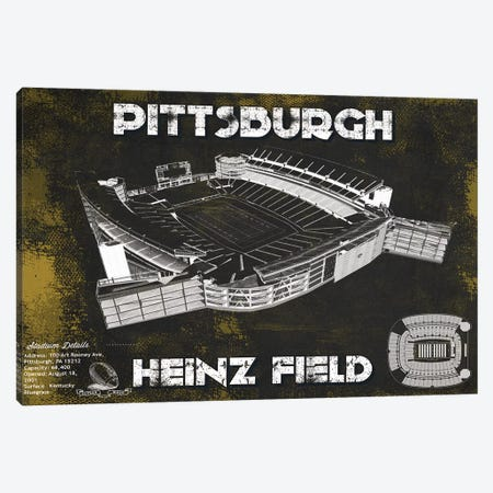 Pittsburgh Heinz Field In Team Colors Canvas Print #CWE123} by Cutler West Canvas Art