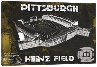 Pittsburgh Heinz Field In Team Colors Canvas Art Print