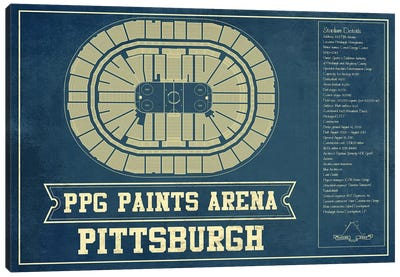 Pittsburgh PPG Paints Arena Canvas Art Print