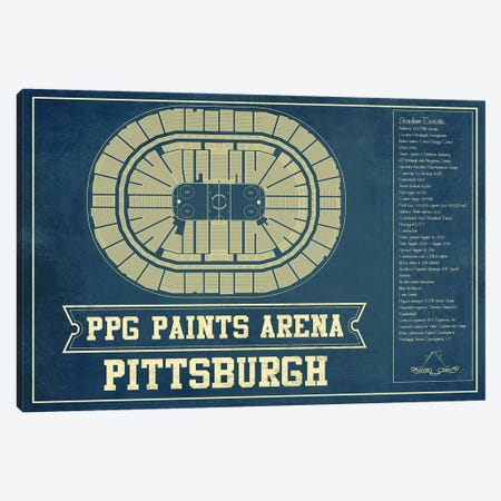 Pittsburgh PPG Paints Arena Canvas Print #CWE125} by Cutler West Canvas Print