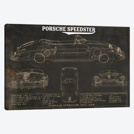 Porsche Speedster Rustic Canvas Print #CWE127} by Cutler West Canvas Print