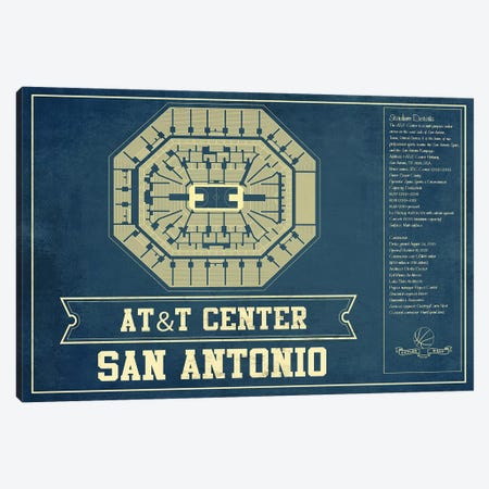 San Antonio AT&T Center Canvas Print #CWE128} by Cutler West Canvas Wall Art